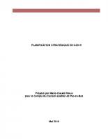 Plan stratégique 2010-2015
